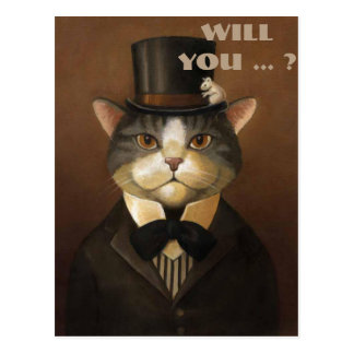 will you be my best man ? be my groomsman postcard