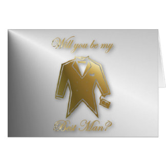 Will you be my Best Man? Best Man request. Card