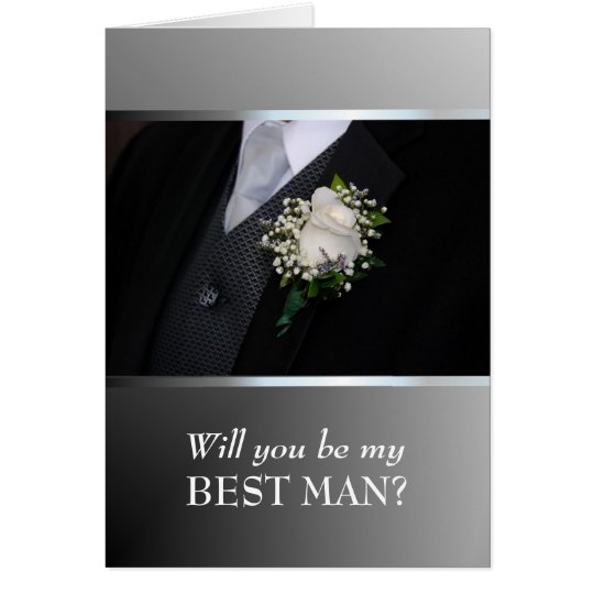 Will You Be My Best Man?  Customize Card
