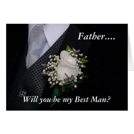 Will You Be My Best Man Father Card
