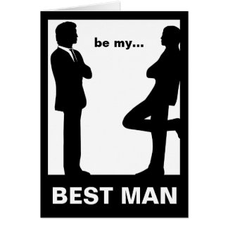 Will You Be My Best Man Greeting Card Card