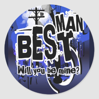Will you be my best man? Grooms request stickers