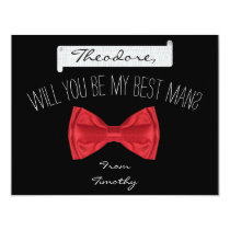 Will you be my Best Man Groomsman Card