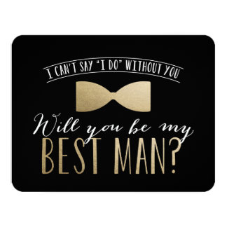 Will you be my Best Man?   Groomsmen 4.25x5.5 Paper Invitation Card