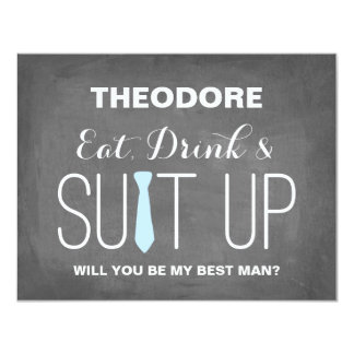 Will you be my Best Man ? | Groomsmen 4.25x5.5 Paper Invitation Card