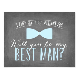 Will you be my Best Man? | Groomsmen 4.25x5.5 Paper Invitation Card