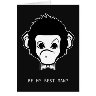 will you be my best man? mister monkey card