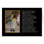 Will You Be My Best Man? Penguin Humor Card