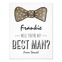 Will You Be My Best Man? | Rustic Groomsmen Cards