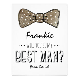 Will You Be My Best Man? | Rustic Groomsmen Card