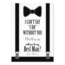Will You Be My Best Man - Tuxedo Tie Braces Cards