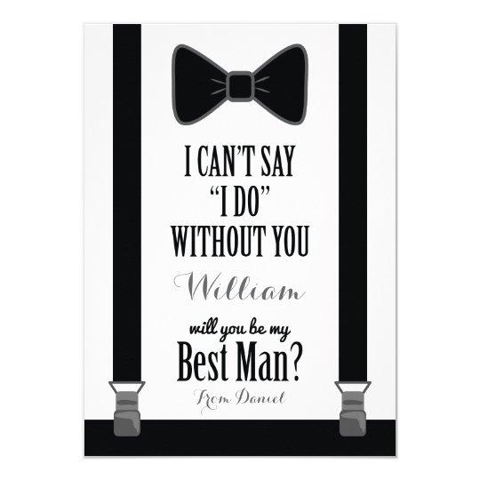 will you be my best man tuxedo tie braces invitation zazzle com