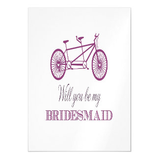 Will You Be My Bridemaid Magnetic Card
