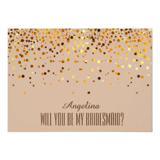 Will you be my bridesmaid? 5x7 paper invitation card