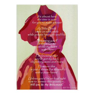 """Will You Be My Bridesmaid"" Autumn Wedding Poster"