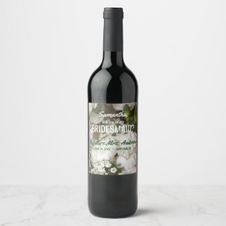 Will You Be My Bridesmaid, Baby's Breath Wine Label
