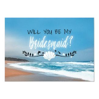 Will You Be My Bridesmaid   Beach Bridesmaid Card