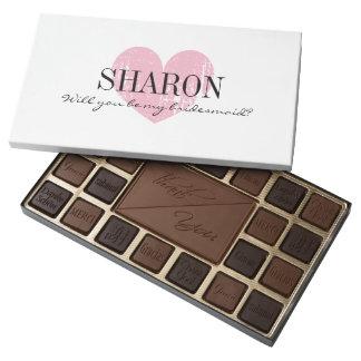 Will you be my bridesmaid box of chocolates gift