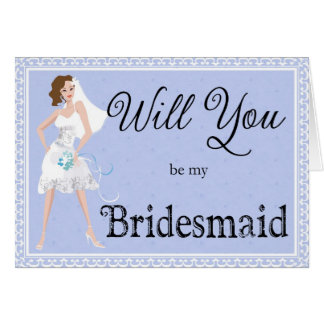 Will You Be My Bridesmaid Bridal Accessory Card