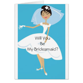 Will You Be My Bridesmaid Bridal Accessory Greeting Card