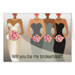Will you be my Bridesmaid? Bridal Party | charcoal Cards