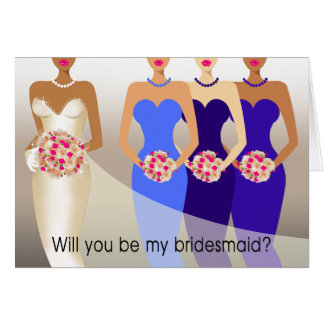 Will you be my Bridesmaid? Bridal Party | cobalt Card