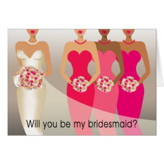 Will you be my Bridesmaid? Bridal Party | fuschia Card