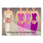 Will you be my Bridesmaid? Bridal Party | purple Cards