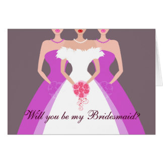 Will you be my Bridesmaid? Bridal Party (purple) Card