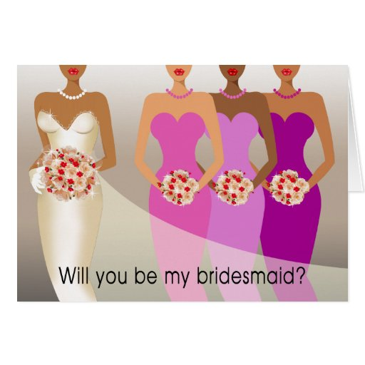 will you be my bridesmaid bridal party purple greeting card zazzle. Black Bedroom Furniture Sets. Home Design Ideas