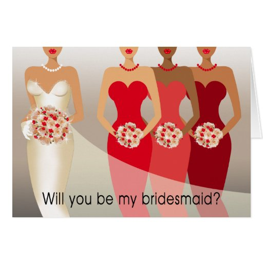 Will you be my Bridesmaid? Bridal Party | red Card