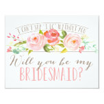 Will You Be My Bridesmaid | Bridesmaid Card<br><div class='desc'>Ask your bridesmaid with a beautiful card&quot;I can&#39;t say &#39;I do&#39; without you.&quot; This Bridesmaid features lovely watercolored flowers and a mix of modern typography. Make it easy for them to say yes with this beautiful card. Stop by the shop today to see more matching items!</div>