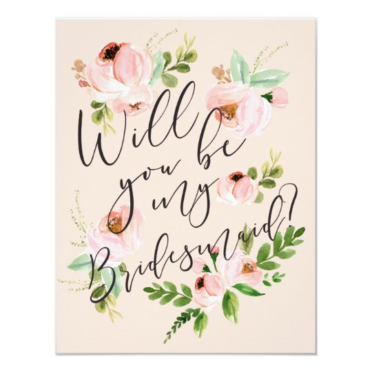 Will You Be My Bridesmaid Bridesmaid Card Zazzlecom