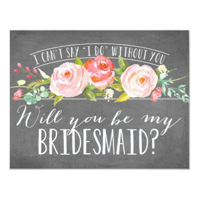 Will You Be My Bridesmaid Cards Zazzlecom