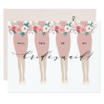 Will You Be My Bridesmaid? | Bridesmaid Card at Zazzle