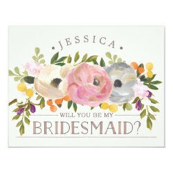 Will You Be My Bridesmaid - Bridesmaid Card