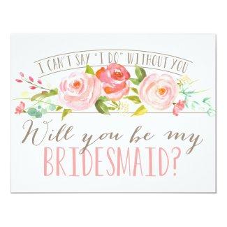 Will You Be My Bridesmaid | Bridesmaid Invitation