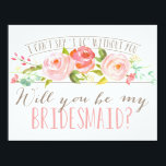 "Will You Be My Bridesmaid | Bridesmaid Invitation<br><div class=""desc"">Ask your bridesmaid with a beautiful card&quot;I can&#39;t say &#39;I do&#39; without you.&quot; This Bridesmaid features lovely watercolored flowers and a mix of modern typography. Make it easy for them to say yes with this beautiful card. Stop by the shop today to see more matching items!</div>"