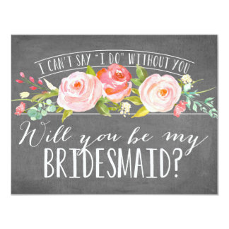 Will You Be My Bridesmaid | Bridesmaid 4.25x5.5 Paper Invitation Card