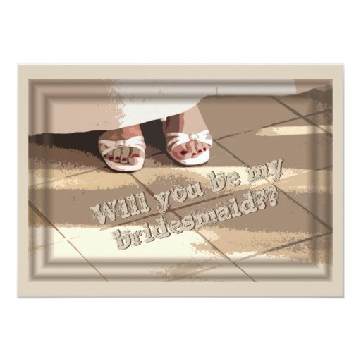 "Will You Be My Bridesmaid? Bridesmaid Request Card 5"" X 7"" Invitation Card"
