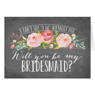 Will You Be My Bridesmaid   Bridesmaid Stationery Note Card