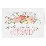 Will You Be My Bridesmaid | Bridesmaid Stationery Note Card