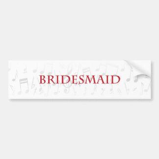 Will you be my bridesmaid? bumper sticker