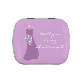 Will you be my Bridesmaid? Jelly Belly Candy Tin