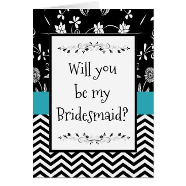 Wedding Themed Will you be my Bridesmaid Card