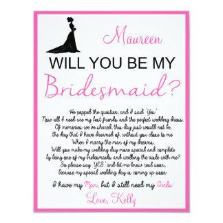 Gallery For > Will You Be My Bridesmaid Poem For Cousin Will You Be My Bridesmaid Quotes
