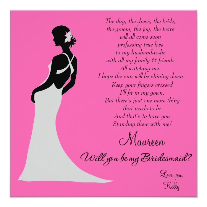 will you be my bridesmaid card zazzle. Black Bedroom Furniture Sets. Home Design Ideas