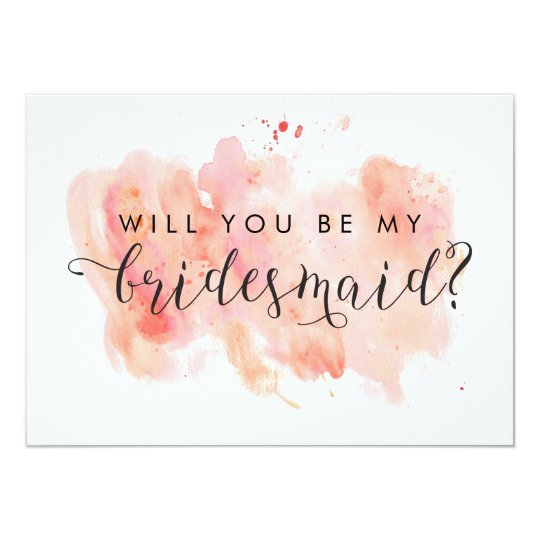 Will You Be My Bridesmaid Card Zazzlecom
