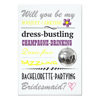 """""""Will you be my Bridesmaid?"""" Card"""