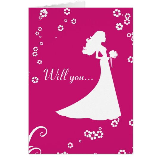 Will You Be My Bridesmaid Card? Card